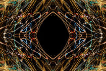 Lightpainting Abstract Symmetry UFA Prints #16 by John Williams