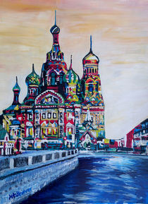 St Petersburg With Church Of The Savior On Blood by M.  Bleichner