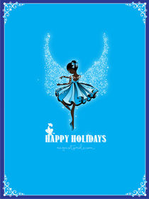 Blue Holiday Ballerina by Stacey Renee Bowers