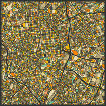 MADRID MAP von Jazzberry  Blue