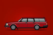 Illu-volvo-245-wagon-red-poster