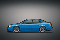 Audi A4 Quattro B5 Type 8d Sedan Nogaro Blue by monkeycrisisonmars