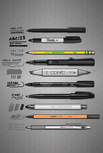 Pen Collection For Sketching And Drawing von monkeycrisisonmars