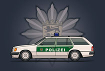 Mercedes Benz W124 300TE Wagon German Police Car by monkeycrisisonmars