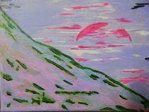 Sonnenuntergang am Berg von Peggy Gennrich