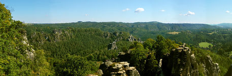 Panorama of the Elbe sandstone mountains