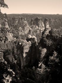 Panorama of the Elbe sandstone mountains von Peter-André Sobota