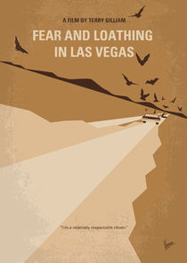 No293 My Fear and loathing Las vegas minimal movie poster von chungkong