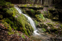 Latvian waterfall by Janis Upitis