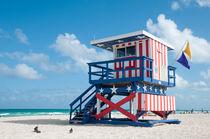 Life Guard in Miami Beach by Jan Kaiser