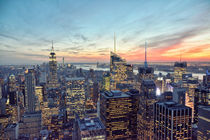Manhattan New York Sonnenuntergang / Sunset NYC Skyline von Thomas Schaefer  (www.ts-fotografik.de)