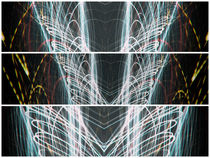Lightpainting Triptych Horizontal Print Photograph 5 by John Williams