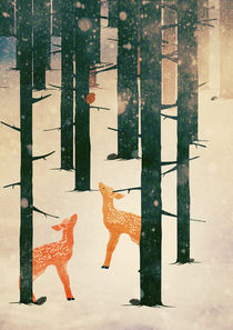 Winter Deer by Sybille Sterk