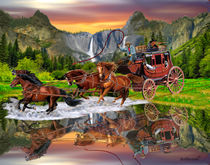 Wells Fargo Stagecoach by holbrookart