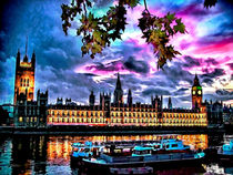 Westminster and Boats by GabeZ Art