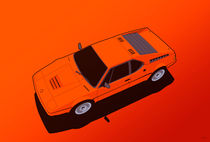 BMW M1 E26 Red Orange by monkeycrisisonmars