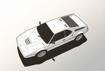 BMW M1 E26 White by monkeycrisisonmars