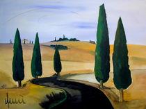 Toscany five cypress von galeriequici