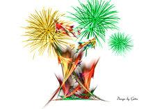 Digital Fraktales Feuer by bilddesign-by-gitta