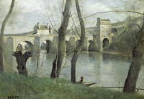 The Bridge at Mantes  von Jean Baptiste Camille Corot