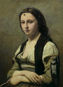 The Woman with the Pearl by Jean Baptiste Camille Corot