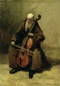 The Monk by Jean Baptiste Camille Corot