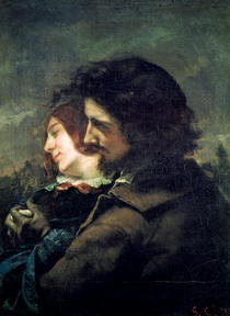 The Happy Lovers von Gustave Courbet
