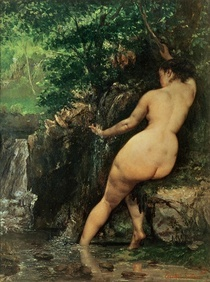 The Source or Bather at the Source von Gustave Courbet