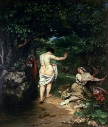 Les Baigneuses by Gustave Courbet