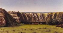 Rocky landscape near Flagey  von Gustave Courbet
