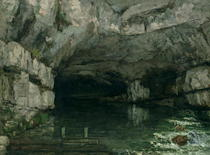 The Grotto of the Loue von Gustave Courbet