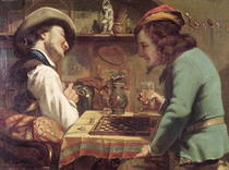 The Game of Draughts by Gustave Courbet