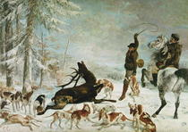 The Death of the Deer by Gustave Courbet