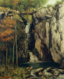 The Chasm at Conches von Gustave Courbet