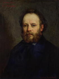 Portrait of Pierre Joseph Proudhon  von Gustave Courbet