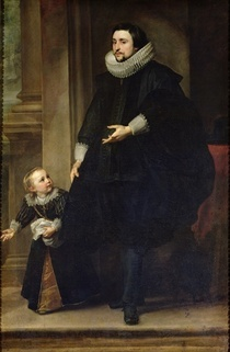 Portrait of a Nobleman and his Child or Portrait of the Brother  by Sir Anthony van Dyck