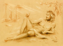 Dionysos Gott des Weines – Männerakt von Marita Zacharias
