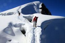 Schneebrücke (Der Aufstieg) von Gerhard Albicker