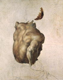 Study of a Torso for The Raft of the Medusa by Theodore Gericault