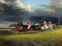 The Epsom Derby von Theodore Gericault
