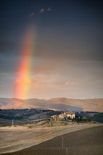 Regenbogen Toskana Italien / rainbow Tuscany von Thomas Schaefer