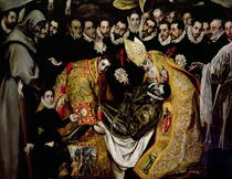The Burial of Count Orgaz, from a legend of 1323, detail of a yo von El Greco