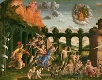 Minerva Chasing the Vices from the Garden of Virtue  by Andrea Mantegna
