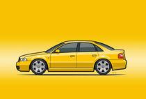 Audi A4 S4 Quattro B5 Type 8d Sedan Imola Yellow von monkeycrisisonmars