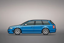 Audi RS4 A4 Avant Quattro B5 Type 8d Wagon Nogaro Blue by monkeycrisisonmars