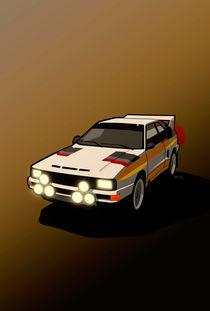 Audi Sport Quattro Ur-Quattro Rally Poster by monkeycrisisonmars