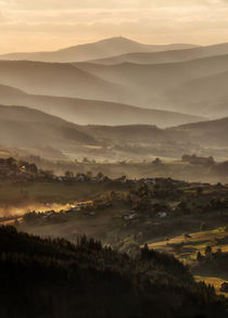 Polish mountains at the sunset by Jarek Blaminsky