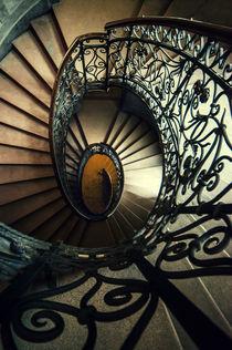 Elegant metal spiral staircase von Jarek Blaminsky