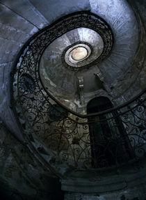 Spiral Staircase in blue and gray tones von Jarek Blaminsky