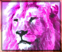 Magenta Lion by kittymisty